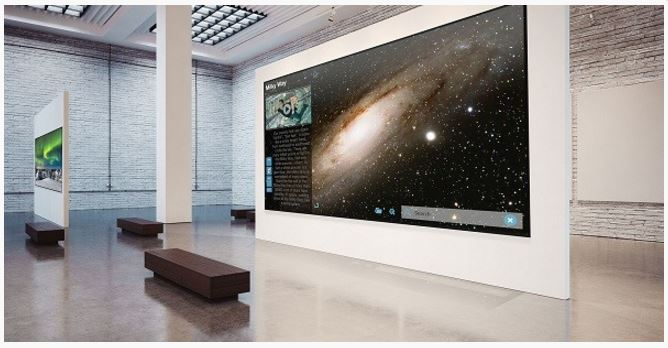 cebit 2016 8k fernseher mit 200 zoll von tabler systems. Black Bedroom Furniture Sets. Home Design Ideas