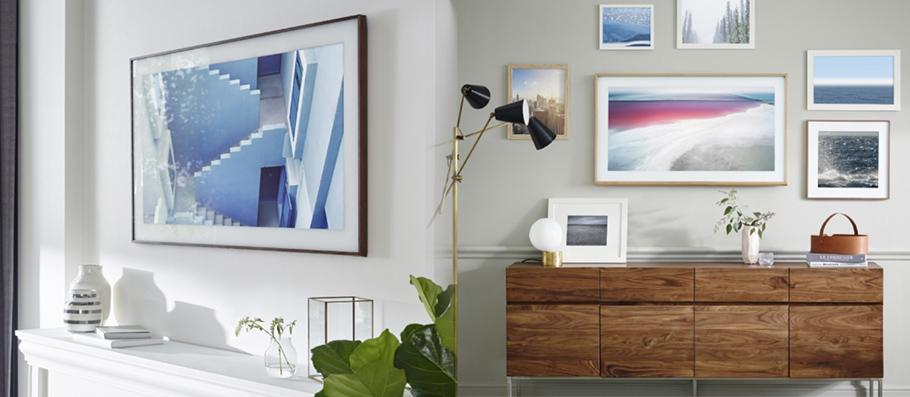 samsungs frame tv ist wahrhaftig ein bild von einem fernseher. Black Bedroom Furniture Sets. Home Design Ideas