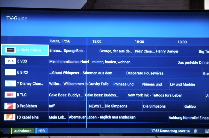 Philips 65PUS9809 TV Guide